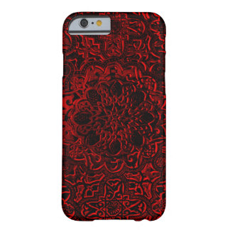 Decorative Red Demon Lotus Mandala iPhone Barely There iPhone 6 Case