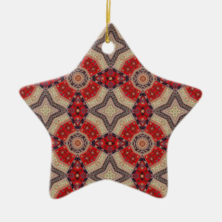 Decorative Red Retro Art Christmas Ornament