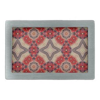Decorative Red Retro Art Rectangular Belt Buckle