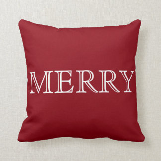 Decorative Red & White Merry Christmas Cushion