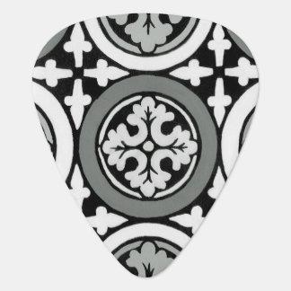 Decorative Renaissance Rosette Tile Design Guitar Pick