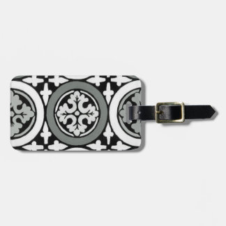 Decorative Renaissance Rosette Tile Design Luggage Tag
