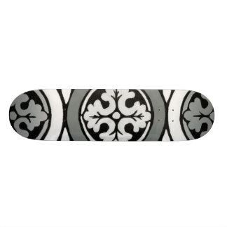 Decorative Renaissance Rosette Tile Design 20 Cm Skateboard Deck