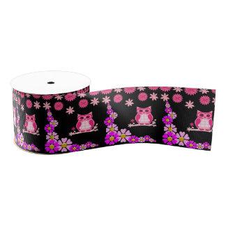 decorative ribbon pink owl grosgrain ribbon