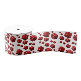 decorative ribbon red dice grosgrain ribbon