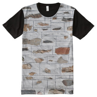Decorative Rock Wall All-Over Print T-Shirt