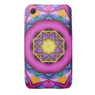 Decorative romantic kaleidoscope iPhone 3 covers