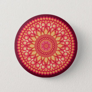 Decorative round tribal ethnic ornament 6 cm round badge