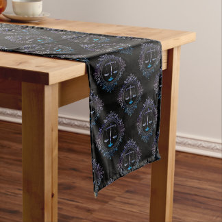 Decorative Scales of Justice Pattern | Law Gifts Medium Table Runner