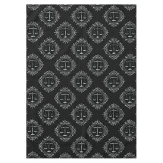 Decorative Scales of Justice Pattern | Law Gifts Tablecloth