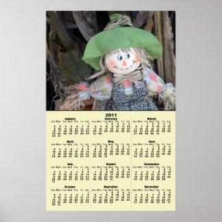 Decorative Scarecrow 2011 Calendar Poster