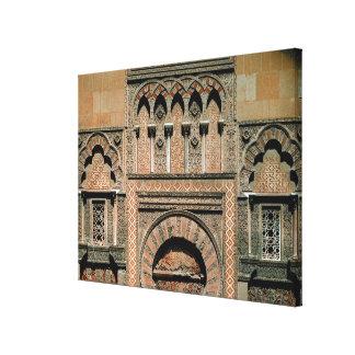 Decorative scheme above the doorway canvas print