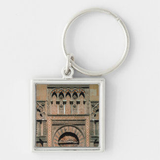 Decorative scheme above the doorway Silver-Colored square key ring
