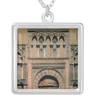 Decorative scheme above the doorway silver plated necklace
