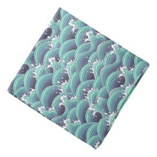 Decorative Sea Wave Background Bandana
