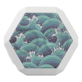 Decorative Sea Wave Background White Boombot Rex Bluetooth Speaker