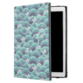 "Decorative Sea Wave Background iPad Pro 12.9"" Case"