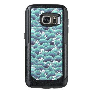 Decorative Sea Wave Background OtterBox Samsung Galaxy S7 Case