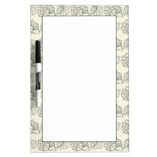 Decorative Shells Pattern Dry Erase Board