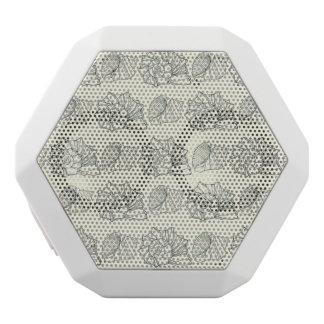 Decorative Shells Pattern White Bluetooth Speaker