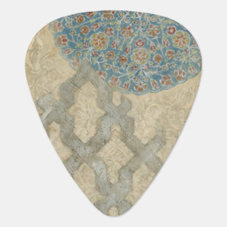 Decorative Silver Tapestry Floral Arrangement Guitar Pick