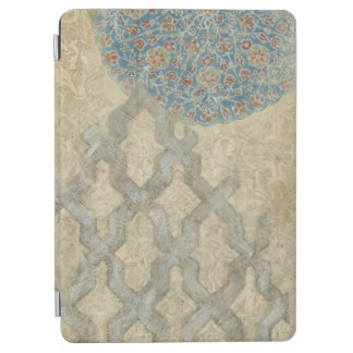 Decorative Silver Tapestry Floral Arrangement iPad Air Cover