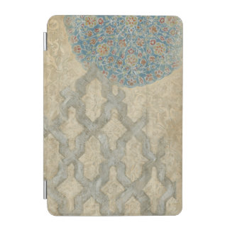 Decorative Silver Tapestry Floral Arrangement iPad Mini Cover
