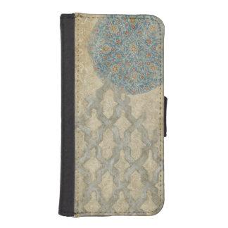 Decorative Silver Tapestry Floral Arrangement iPhone SE/5/5s Wallet Case