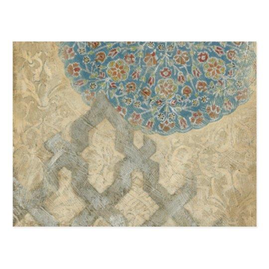 Decorative Silver Tapestry Floral Arrangement Postcard