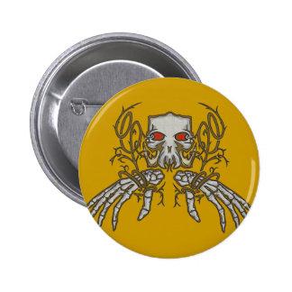 Decorative Skull 6 Cm Round Badge