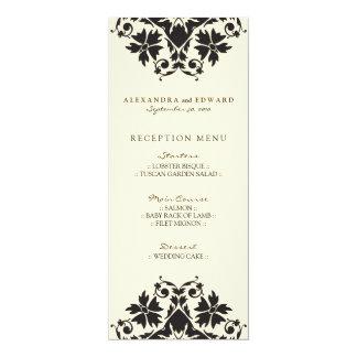 Decorative Stamp Wedding Reception Menu (black) 10 Cm X 24 Cm Invitation Card