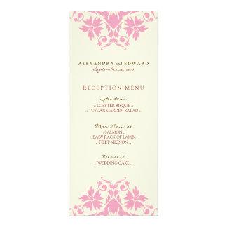 Decorative Stamp Wedding Reception Menu (pink) 10 Cm X 24 Cm Invitation Card