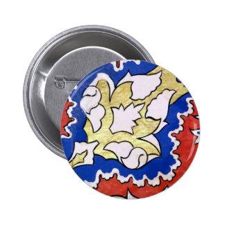 Decorative Standard, 2¼ Inch Round Button