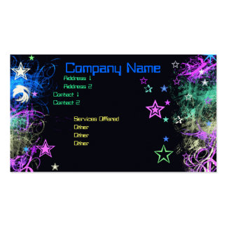 Decorative Star business card