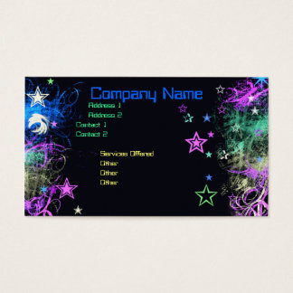 Decorative Star business card