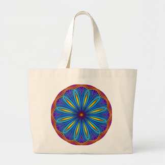 Decorative Starburst Medallion Tote Jumbo Tote Bag