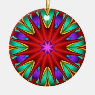 Decorative starry fractal Christmas ornament
