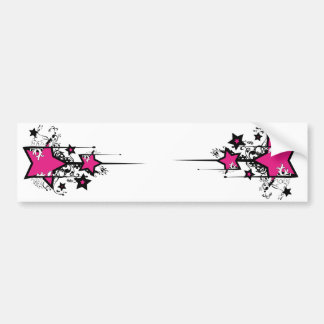Decorative Stars Sticker Bumper Sticker