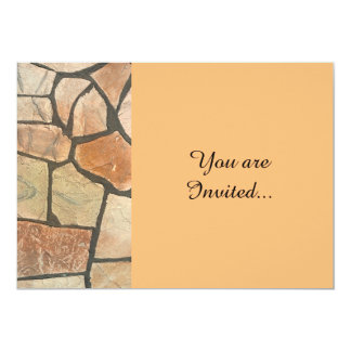 Decorative Stone Paving Look 5x7 Paper Invitation Card