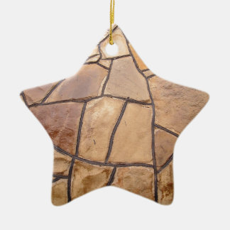 Decorative stone wall with wide angle fisheye view ceramic star decoration