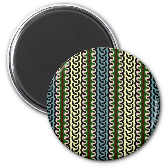Decorative stripe magnet - blue/cream