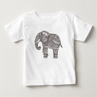 Decorative Style Elephant Baby T-Shirt