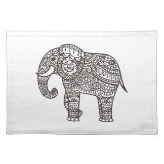 Decorative Style Elephant Placemat
