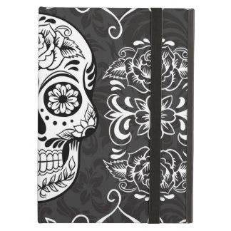 Decorative Sugar Skull Black White Gothic Grunge Case For iPad Air