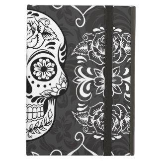 Decorative Sugar Skull Black White Gothic Grunge Case For iPad Air