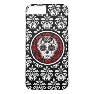 Decorative sugar skull with damask iPhone 8 plus/7 plus case