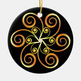 Decorative Symbol Round Ceramic Decoration