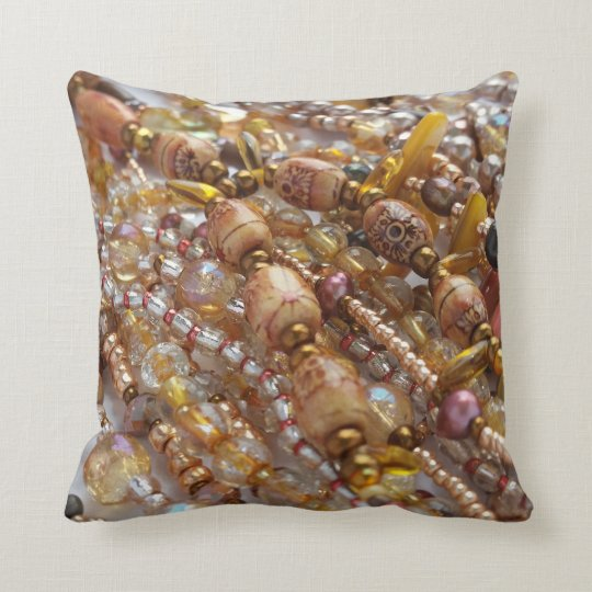 Decorative Throw Pillow- Natural Earthtone, Bronze Cushion