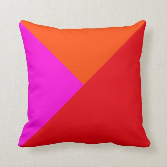 Decorative Throw Pillows - Red, Pink and Orange