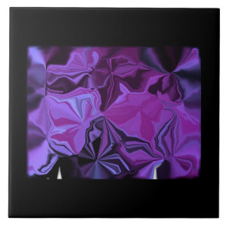 Decorative Tiles - Abstract Shades of Purple